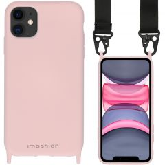 iMoshion Coque couleur avec cordon - sangle en nylon iPhone 11 - Rose