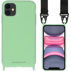 iMoshion Coque couleur avec cordon - sangle en nylon iPhone 11 - Vert