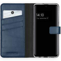 Selencia Étui de téléphone en cuir véritable Samsung Galaxy A51