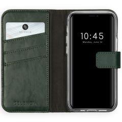 Selencia Étui de téléphone en cuir véritable iPhone 12 Mini