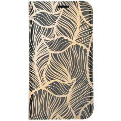 Coque silicone design iPhone 11 - Golden Leaves