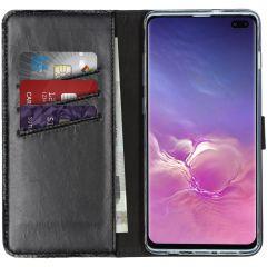 Selencia Étui de téléphone en cuir véritable Samsung Galaxy S10 Plus