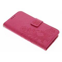 Etui de téléphone Fleurs de Trèfle Samsung Galaxy S7 - Rose