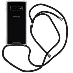 iMoshion Coque avec cordon Samsung Galaxy S10 Plus - Noir