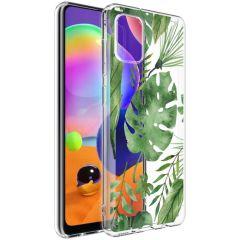 iMoshion Coque Design Samsung Galaxy A31 - Feuilles - Vert