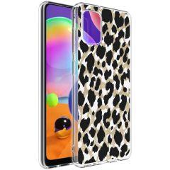 iMoshion Coque Design Samsung Galaxy A31 - Léopard - Dorée / Noir