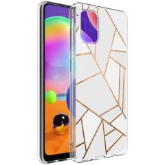 iMoshion Coque Design Galaxy A31 - Cuive graphique - Blanc / Dorée