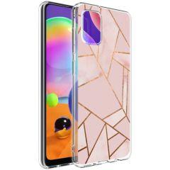 iMoshion Coque Design Galaxy A31 - Cuive graphique - Rose / Dorée