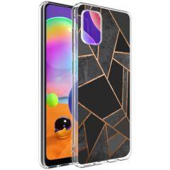 iMoshion Coque Design Galaxy A31 - Cuive graphique - Noir / Dorée