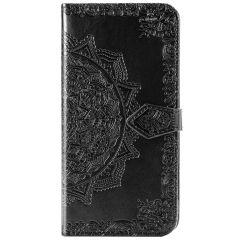 Etui de téléphone Mandala Xiaomi Mi Note 10 Lite - Noir