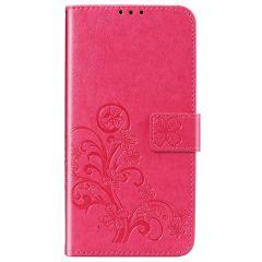 Etui de téléphone Fleurs de Trèfle Xiaomi Mi 10 Lite - Rose