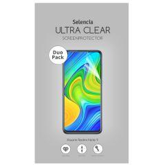 Selencia Protection d'écran Duo Pack Ultra Clear Xiaomi Redmi Note 9