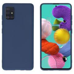 iMoshion Coque Color Samsung Galaxy A51 - Bleu foncé