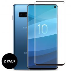 iMoshion Protection d'écran en verre durci 2 pack Samsung Galaxy S10