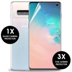 iMoshion Protection d'écran + en verre Appareil photo Galaxy S10