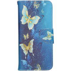 Coque silicone design Samsung Galaxy A31 - Blue Butterfly
