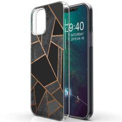 iMoshion Coque Design iPhone 12 Mini - Cuive graphique - Noir