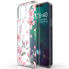 iMoshion Coque Design iPhone 12 Mini - Fleur - Rose