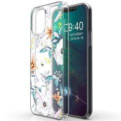 iMoshion Coque Design iPhone 12 (Pro) - Fleur - Blanc