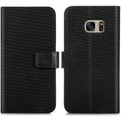 iMoshion Étui de téléphone portefeuille Canvas Luxe Galaxy S7 - Noir