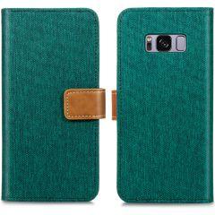 iMoshion Étui de téléphone portefeuille Canvas Luxe Galaxy S8 - Vert