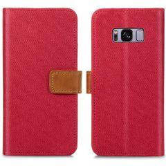 iMoshion Étui de téléphone portefeuille Canvas Luxe Galaxy S8 -Rouge