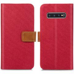 iMoshion Étui de téléphone portefeuille Canvas Luxe Galaxy S10