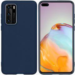 iMoshion Coque Color Huawei P40 - Bleu foncé