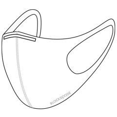 Blackspade Masque lavable adulte - Coton réutilisable et extensible