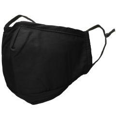 iMoshion Réutilisable, masque lavable avec 3 couches de coton - Noir