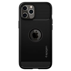 Spigen Coque Rugged Armor iPhone 12 (Pro) - Noir