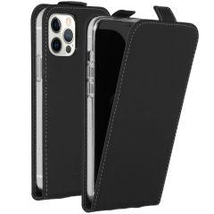 Accezz Étui à rabat iPhone 12 (Pro) - Noir
