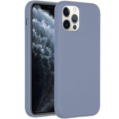 Accezz Coque Liquid Silicone iPhone 12 (Pro) - Lavender Gray