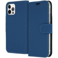 Accezz Étui de téléphone Wallet iPhone 12 (Pro) - Bleu