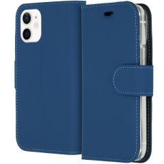 Accezz Étui de téléphone Wallet iPhone 12 Mini - Bleu foncé