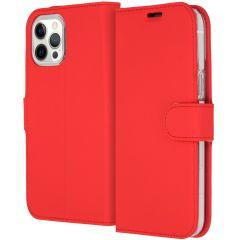 Accezz Étui de téléphone Wallet iPhone 12 Pro Max - Rouge