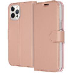 Accezz Étui de téléphone Wallet iPhone 12 Pro Max - Rose Champagne