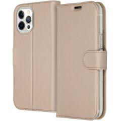 Accezz Étui de téléphone Wallet iPhone 12 Pro Max - Dorée