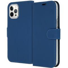 Accezz Étui de téléphone Wallet iPhone 12 Pro Max - Bleu