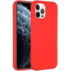 Accezz Coque Liquid Silicone iPhone 12 Pro Max - Rouge