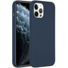 Accezz Coque Liquid Silicone iPhone 12 Pro Max - Bleu foncé