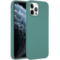 Accezz Coque Liquid Silicone iPhone 12 Pro Max - Vert foncé