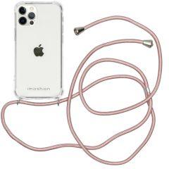 iMoshion Coque avec cordon iPhone 12 (Pro) - Rose Champagne