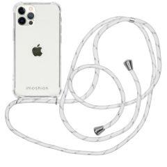 iMoshion Coque avec cordon iPhone 12 (Pro) - Blanc / Argent
