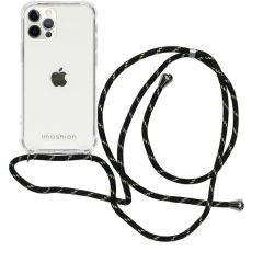 iMoshion Coque avec cordon iPhone 12 (Pro) - Noir / Dorée