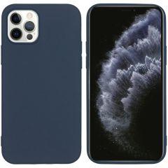 iMoshion Coque Color iPhone 12 (Pro) - Bleu foncé