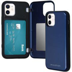 iMoshion Coque avec support de passe iPhone 12 Mini - Bleu foncé