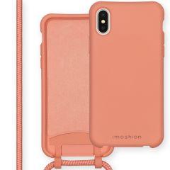 iMoshion Coque de couleur avec cordon amovible iPhone Xs / X - Peach