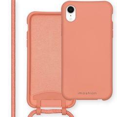 iMoshion Coque de couleur avec cordon amovible iPhone Xr - Peach