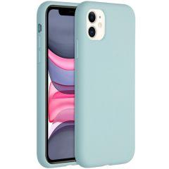 Accezz Coque Liquid Silicone iPhone 11 - Sky Blue